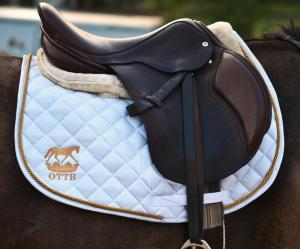 Arianna's present to Lauren and Bruno.  The beautiful OTTB pad (photo from their web site- www.ottbdesigns.com )