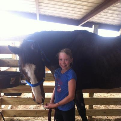 Meagen and the giant horse.  Is that anything like James and the giant peach?