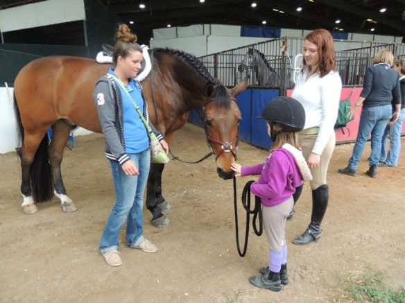 The discussion ensues over who will wear what to the Leadline class.  Ky was very patient!