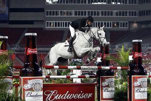 Really, jumping through Bud Bottles?