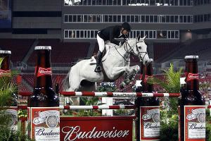 Really, jumping through Bud Bottles?