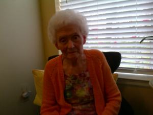 Momma after she had her hair done today.  She wanted to send a picture to Jim.