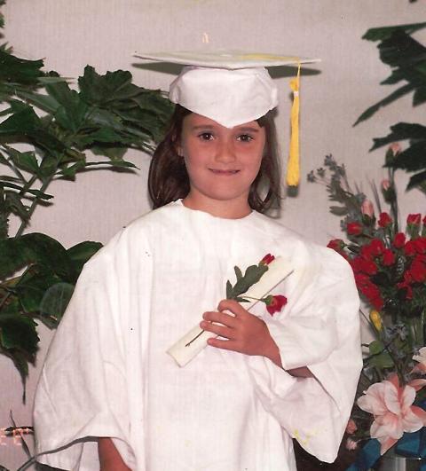Ally Davis Taylor's kindergarten graduation