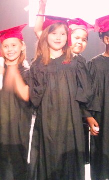 Jordyn Grace Taylor at her kindergarten graduation