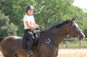 Lauren is all smiles as she rides Bruno at Dev's today.