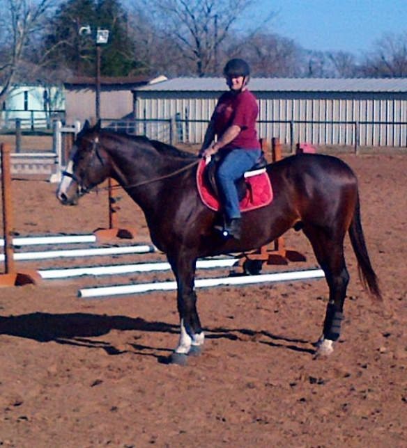 My first ride ever on the giant OTTB Bruno.