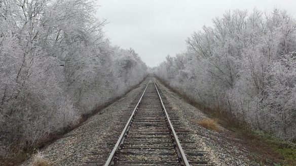 A photo courtesy of Mike King of Sealey, Texas on a frozen morning.