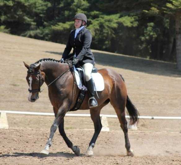 Alyssa on Stan now as a top dressage contender.