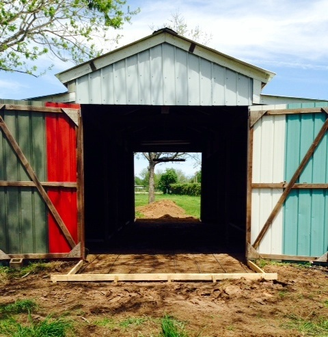The old barn is getting a new concrete center aisle tomorrow.