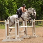 Lauren and Feather continue to improve moving up to more sizeable jumps.