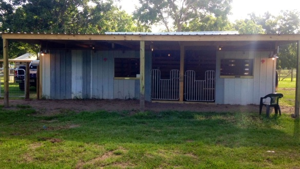 The new eastern addition includes two stalls and a feed room.