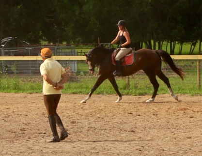 Look at the stretch in this canter!