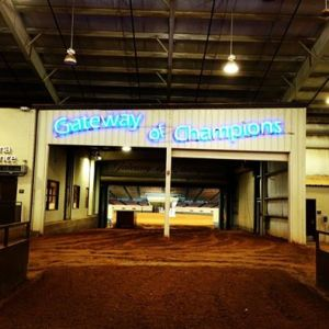 The Gateway of Champions at the Oklahoma State Fairgrounds.