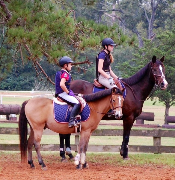 Olivia on Avery and Alex on Mickey at Pine Hill.