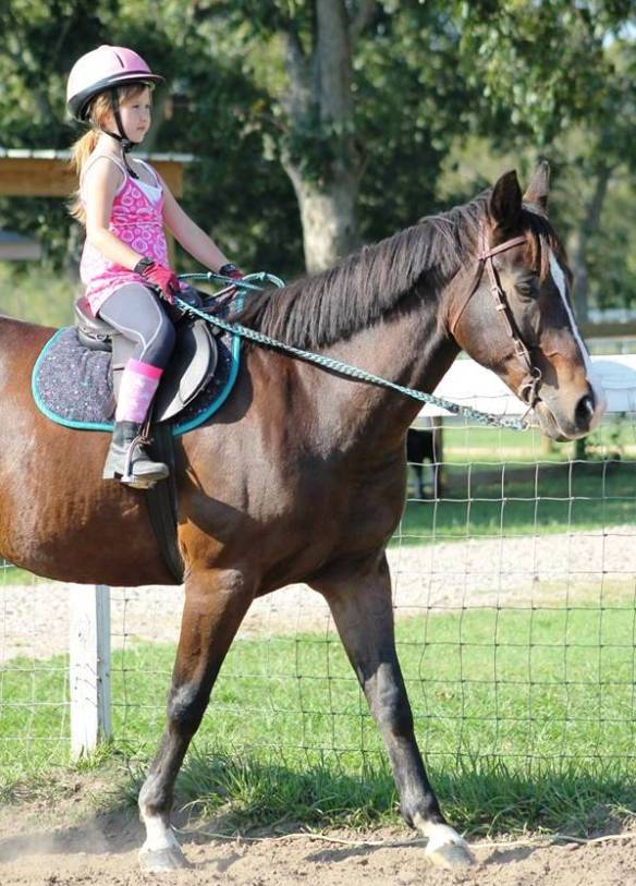 "Jordyn and Mickey at their first ""real"" lesson this week."