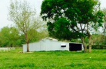 the original view down the pasture to the barn.
