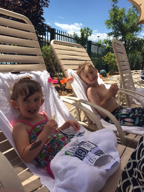Lexi and Riley having a little summertime fun.