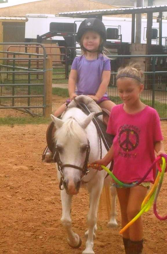 Kendyll being taken for a ride by Abby.  Oh, my goodness she was pleased with herself!