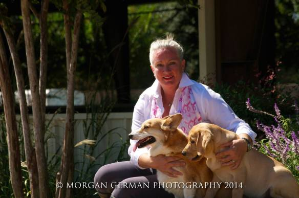 Sherre with her beloved dogs, Nordic and Doc. Photo courtesy of Morgan German